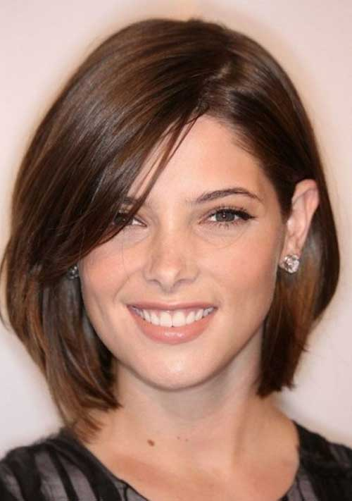 Brown Bob Hair Cuts for Round Faces