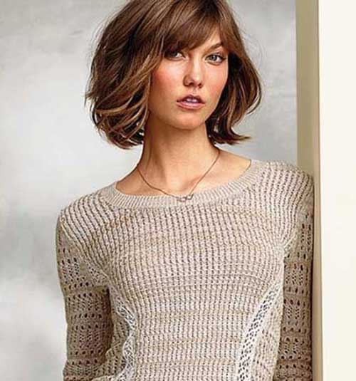 Brown Hair Long Bob