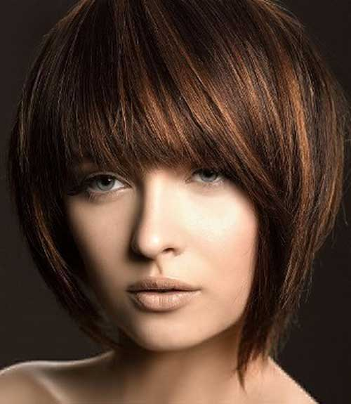 Brown Highlighted Bob Hairstyles
