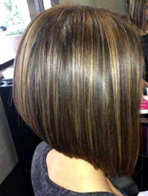 Brown Line Bob Hairstyles