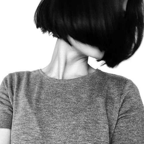 Chin Length Dark Bob Styles