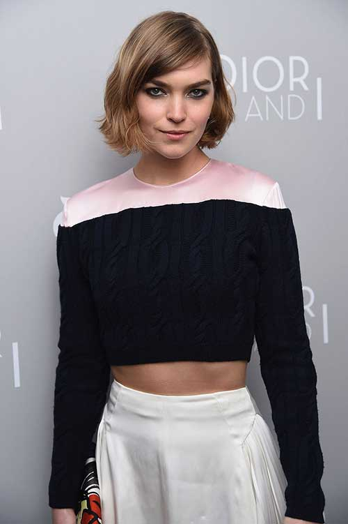 Chin Length Side Swept Bob Hairstyles