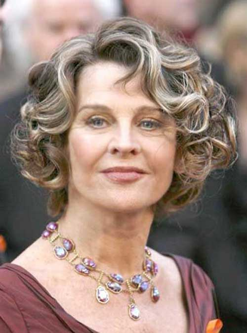 Best Curly Bob Hairstyle for Older Ladies