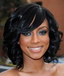 Curly Dark Bob Hairstyles for Black Women