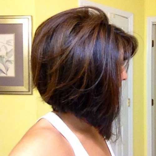 Dark Brown Highlighted Bob Hairstyles