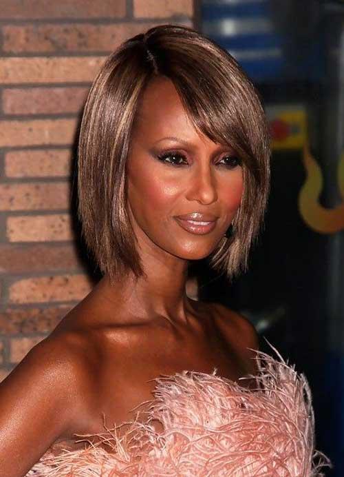 Dark Brown Short Bob Hairstyles for Black Women
