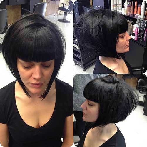 Dark Inverted Bob Hair Cuts