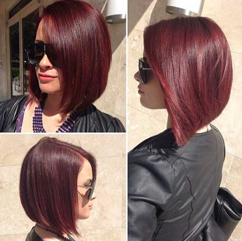 Dark Red Bob Hairstyles