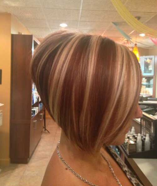 Highlighted Inverted Bob Hair Cuts