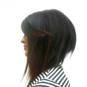 Inverted Dark Bob Hair Styles