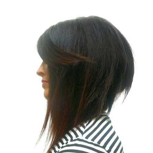 Inverted Dark Bob Hair Styles