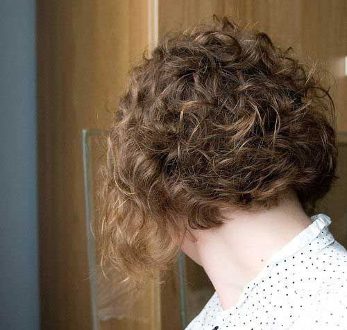 Curly Inverted Bob Haircut Pictures