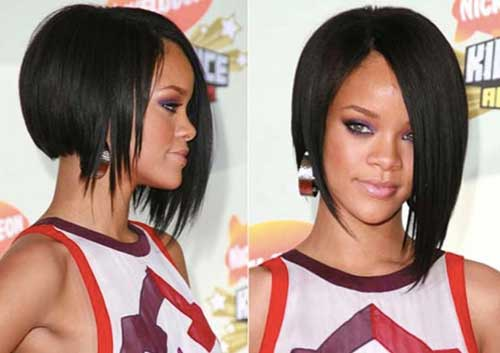 Inverted Dark Bob Haircut Pictures