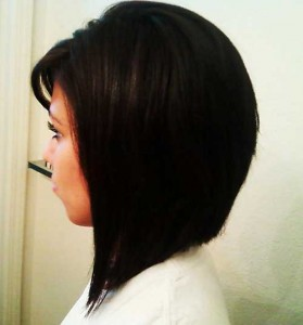 Inverted Line Bob Hair