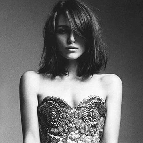 Keira Knightley Long Bob Haircut