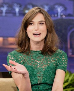 Kiera Knightley Side Swept Bob Haircuts