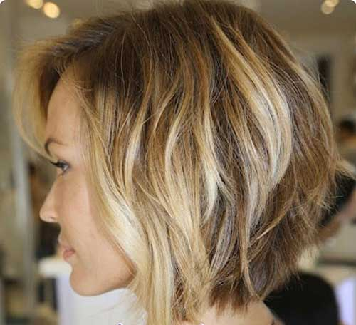 Layered Bob with Balayage Hair