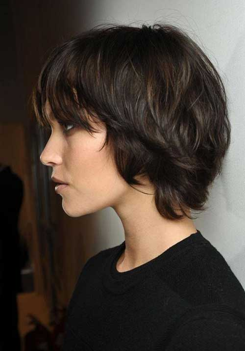 Best Layered Shaggy Bob with Bangs