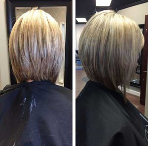 Long Inverted Blonde Bob Styles