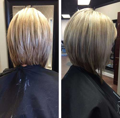 Long Inverted Blonde Bob Styles