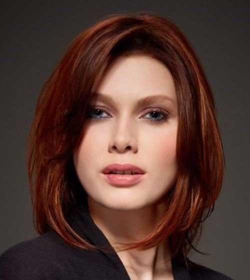 Long Red Bob Hair