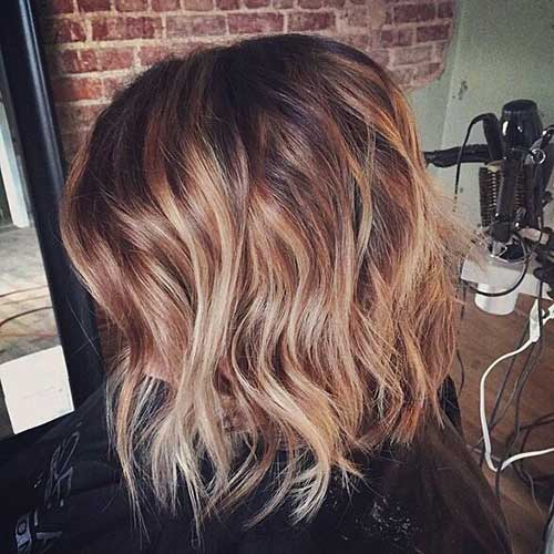 Nice Brown Bob with Balayage Hairstyles