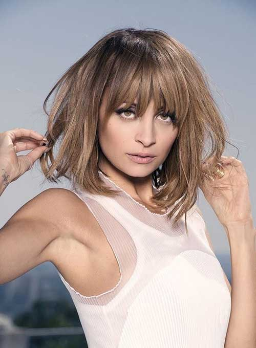 Best Nicole Richie Bob with Bangs