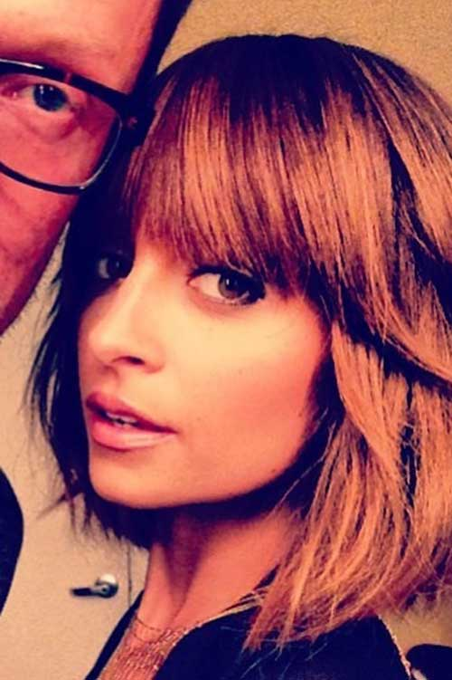 Best Nicole Richie Bob with Side Bangs