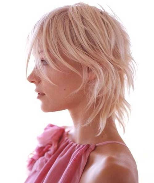 Razored Blonde Bob Hairstyles