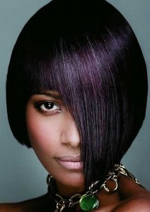 Short Asymmetric Bob Hairstyles for Black Women