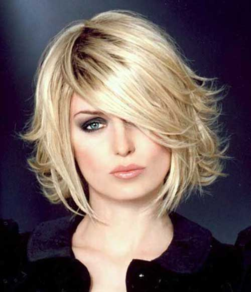 Short Layered Blonde Bob Hairstyles