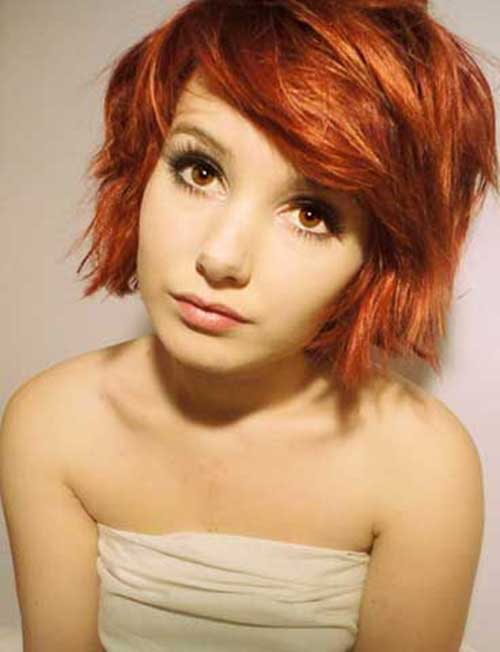Short Layered Bob Red Hair