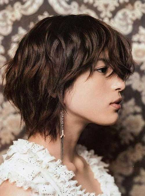Short Wavy Shaggy Bob Haircut