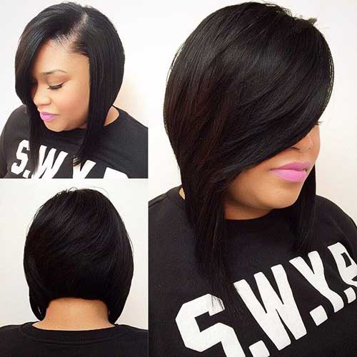 Short Weave Dark Bob Hairstyles