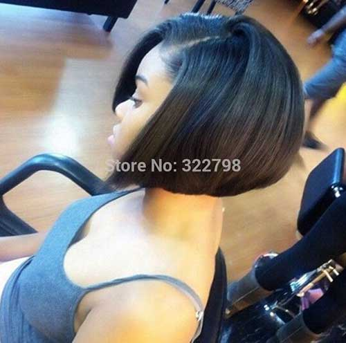Side View Short Bob Hairstyles for Black Women