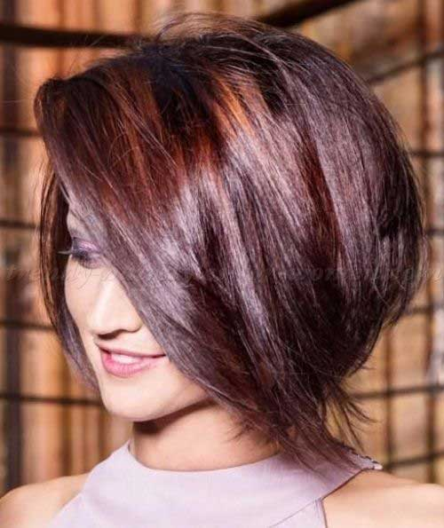 Trendy Dark Red Bob Haircut