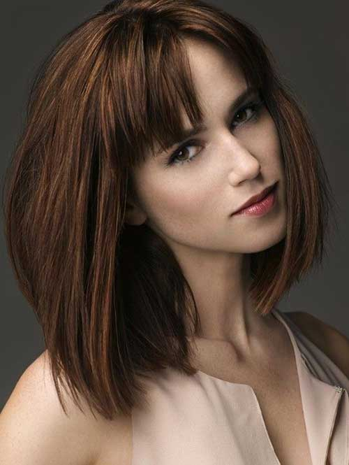 Trendy Long Bob with Bangs Hairstyles