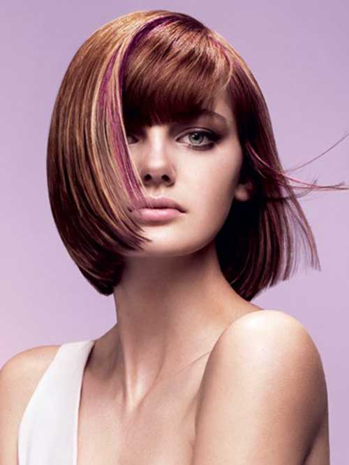 Vidal Sassoon Pink Bob Haircut