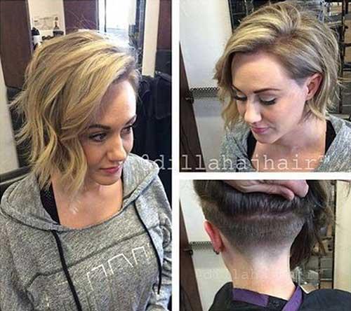 Wavy Tapered Bob Haircuts