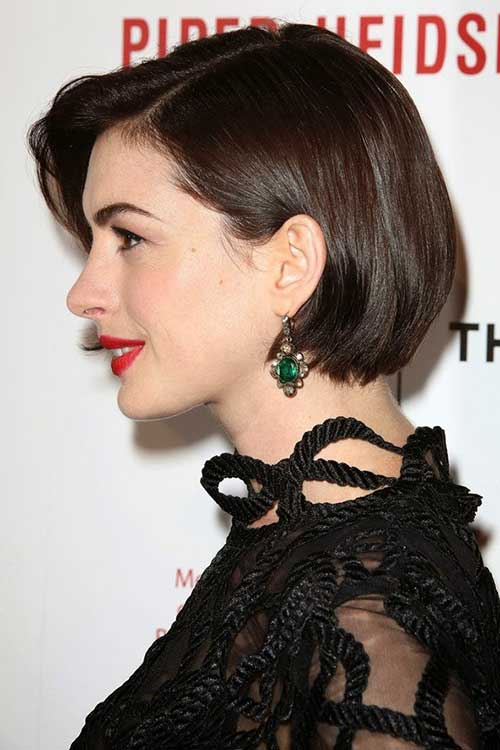 Best Anne Hathaway Bob Hairstyles