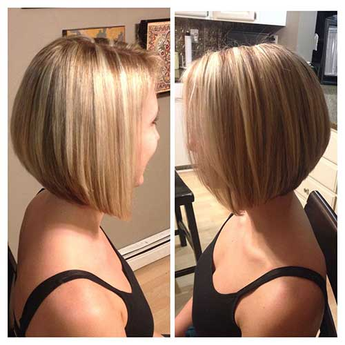 Blonde Highlighted Bob