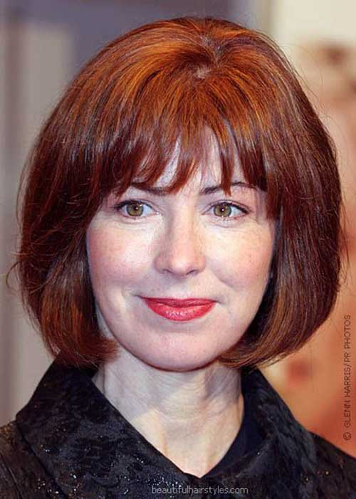 Nice Bobs with Bangs for Mature Women