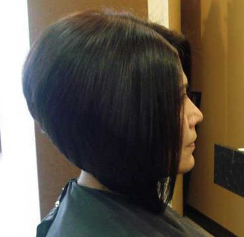 Very short bob haircut back view