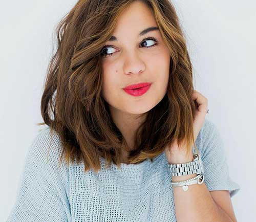 Long Bob Hair Brown Color Ideas