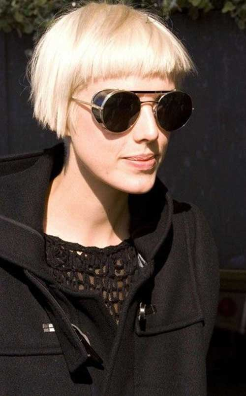 Agyness Deyn Blunt Bob with Bangs