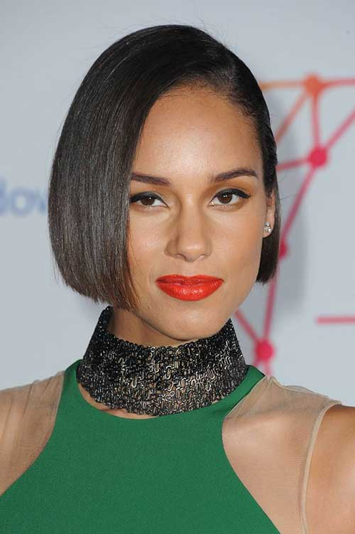 Alicia Keys Short Bob Hairstyle
