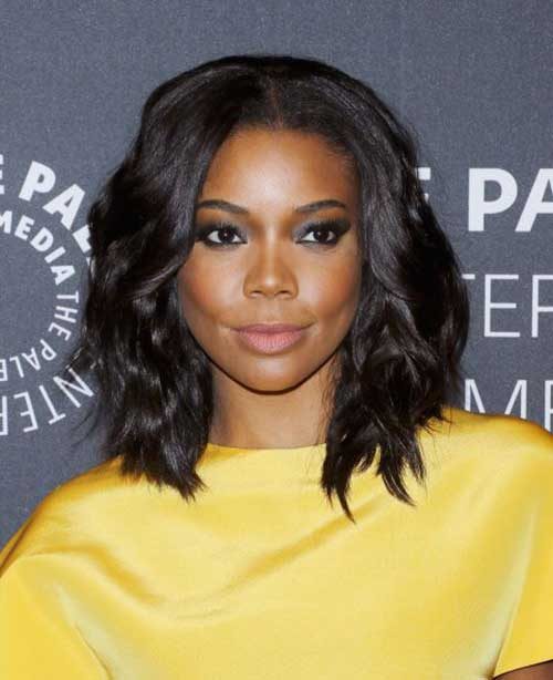 Black Women Wavy Long Bob