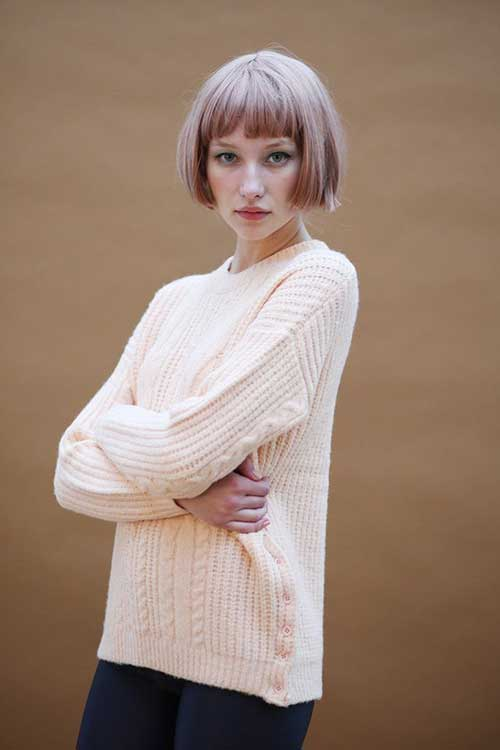 Blunt Cut Short Bob Hairstyles with Bangs