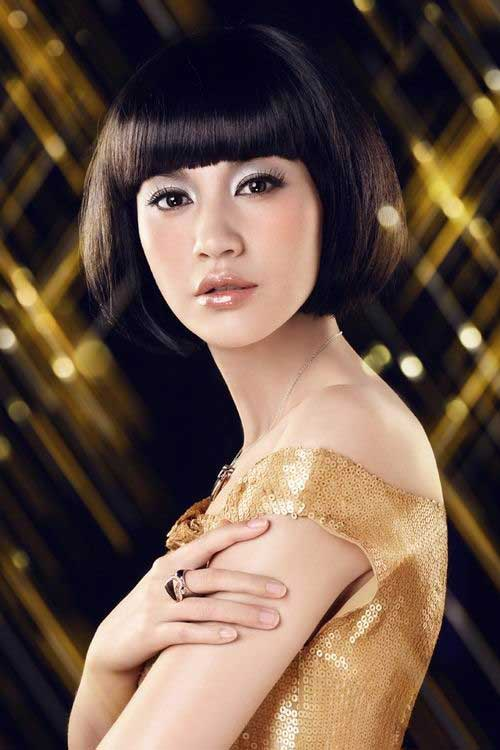 Chinese Bob Hairstyles with Bangs