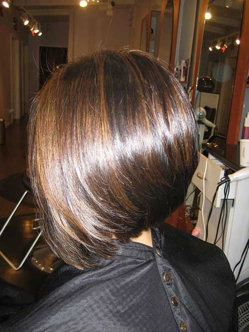 Brunette Line Bob Cuts